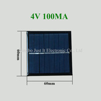 Wholesale Solar Cell Epoxy - 100pcs lot Epoxy Resin Small Solar Cell 4V 100mA 60*60mm
