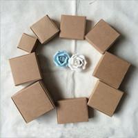 çikolata ambalaj kutusu toptan satış-Takı Kraft Kağıt Hediyelik Ambalaj Kutusu DIY Sabun Fırınlama Ekmek Kek Çerezler Çikolata Ambalaj Paketleme Kutu