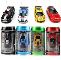 Wholesale Electric Toy Racing Cars - New Brand 1:63 Mini Coke Can Model High Speed Racing Shift Sport Car Remote Control cars and rc car electronic for toys and Hobbies