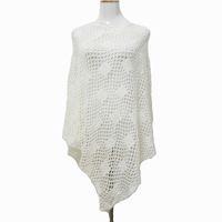 Wholesale Girl Scarf White Crochet - 7 Colors 2017 Spring Girl Dress Luxury White Crochet Poncho Women Fashion Scarf Shawl Poncho wraps accessories