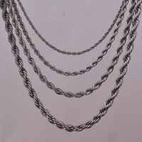 """Wholesale Black Gun Metal Necklace - Wholesale- 16""""18""""20""""24"""" black gun metal plated rope chain necklace 2mm,3mm,4mm,5mm For pendant rope jewelry findings"""