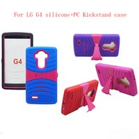 Wholesale Case Clip For Cell Phones - For LG Aristo G6 V10 Silicone + PC Kickstand Back Cover Cell Phone Case Dirt Resistant Quakeproof For LG Stylo 3 LV5 V10 V20