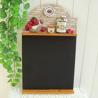 Wholesale Wood Village - American Pastoral Village Retro Hanging Type Blackboard Bar Coffee Hall Mural Decoration Message Board Apple