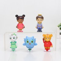 5-6.5cm Daniel Tiger's Neighborhood Friends Figurines Set Daniel Tiger Prince Elaina Owl Katerina PVC Action Figure Toy For Kids