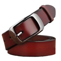 Wholesale 2xl Jeans For Female - New Designer Fashion Women's Belts Genuine Leather Brand Straps Female Waistband Pin Buckles Fancy Vintage for Jeans