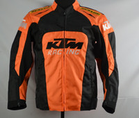 Wholesale Oxford Motorcycle Clothing - New KTM motorcycle back support Racing jacket oxford clothes motorbike jacket big size with protective gear size M to XXXL