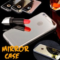 Wholesale Iphone 5s Thin Bumper Case - Mirror Electroplating Shock-absorption Soft TPU Bumper Clear Ultra Thin Cover Case For iPhone 8 7 Plus 6 6S 5 5S SE Samsung S8 Plus S7 Edge