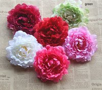 Wholesale Peony Wedding Dress - DIA:13cm 5.1inch 50PCS free shipping emulational silk peony flower head for home,garden,wedding,or beauty's hat or dress decoration holiday