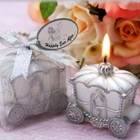 Wholesale Flame Supply - Pumpkin Carriage Candle Favor Elegant Gift Romantic Wedding Party Decoration Favor Elegant Candle Making Supplies Romantic Birthday Gift