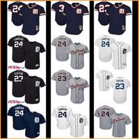 Wholesale Alan Trammell Jersey - 2017 new Men's baseball Detroit Tigers jerseys #24 Miguel Cabrera 23# Kirk Gibson 3# Alan Trammell Throwback jersey 100% stitched