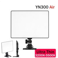 Wholesale yongnuo video light - Wholesale-YONGNUO YN300 Air 3200-5500K Ultra Thin On Camera Led Video Light Pad Panel for DSLR & Camcorder