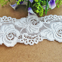 Wholesale Dress Trimmed Flowers - Free shipping 15 yds lot 6cm Width Stretch Lace Trim(EL013) Flower Hollow out Eyelet Lace for DIY Dresses decor bridal wedding decoration