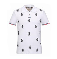 Wholesale Bird Shirt Mens - New summer Fashion mens polo shirt brands short sleeve embroidery birds printed polo designer shirts casual mens t shirt D27