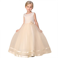 Wholesale clothes images for sale - 2017 New Arrival Summer Flower Girl Dress For Baby Girl Weddings Party Dress Girl Clothes Princess A Line Ball Gown