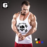 Wholesale Cheap Bodybuilding Vest - Wholesale- Newest men sleeveless t-shirt print cartoon bodybuilding for men clothing vest shirt cheap jerseys tank top
