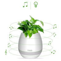 Wholesale real audio music - 2017 NEW hot bluetooth Smart Music Flower pots intelligent real plant touch play flowerpot colorful light Christmas gift