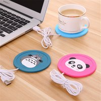 Wholesale Hot Cup Usb - New Cartoon 5V USB Warmer Silicone Heat Heater for Milk Tea Coffee Mug Hot Drinks Beverage Cup Mat Pad best gift
