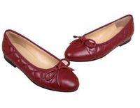 Wholesale Grey Dress Work Office - Black Lambskin BALLERINAS SHOES New arrivals brand design Genuine work shoes Wedding shoes