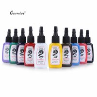 Wholesale Bright Pigment - Wholesale- High Quality Safe Lasting Bright Tattoo Inks 10pcs   Set Colors Vivid Complete Professional Tattoo Ink Pigment Easy Use 2016