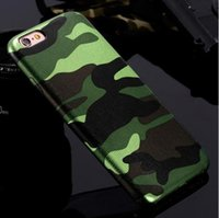 iphone 5s fall camo großhandel-Für iPhone 7 Hüllen 5S 5 Military Camouflage Men Leder Camo Hülle Für iPhone 7 7 Plus Für iPhone 6 6S Plus 5 5s SE Couqe Fundas
