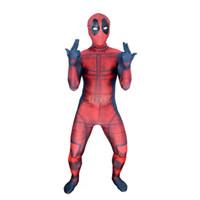 Wholesale Zentai Lycra Red - Kids 3D Deadpool 3D X-Men Deadpool Halloween Cosplay Superhero Lycra Spandex Zentai Suits Deadpool Costume (Unisex)