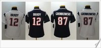 Wholesale Tom Brady College Football Jersey - Womens Color rush new #12 Tom Brady 87 Rob Gronkowski American College Football Shirts Stitched Embroidery Sports Team Pro Jerseys Cheap