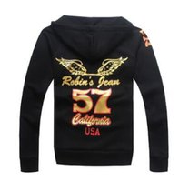 Wholesale T Shirt Hoodie For Men - Wholesale-New Robin Hoodies Sweater For Men Hiphop 100%Cotton robins t Men long Sleeve Shirt CN Size FREE SHIPPING
