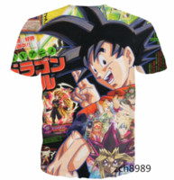 Wholesale Cover Magazine Fashion - Newest Fashion Mens Womens Magazine Cover for Goku Summer Style Funny Unisex 3D Print Casual T-Shirt S---5XL AA451