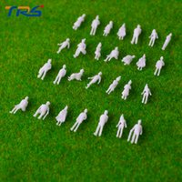 Wholesale Ho Scale Model Figures - Wholesale- Free shipping 100pcs miniature white figures Architectural model human scale HO model ABS plastic peoples 1;150