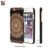 Wholesale Mobile Phone Flower Case - For iPhone 8 8+ 5 5S 6 6S 6Plus 7 7Plus Plus Luxury Flower Wood Case Black Cell Mobile Phone Cover Fast Shipping