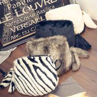 Wholesale Body Warmer Bag - Wholesale- Hot Sale 2016 New Winter Faux Fur Women Messenger bags Lovely Warm Women Crossbody Bag