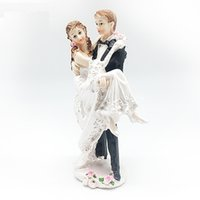 Wholesale Ceramic Wedding Cakes - The Wedding Dolls Cake Is An Adornment Crystal Ball The Bride And Groom Ceramic Plastic Wedding Couples Doll Wedding Accessories