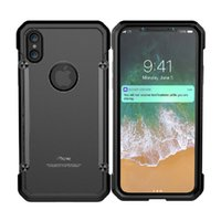 Wholesale Iphone Alloy Bumper - For iPhone X Case,Aluminum Alloy Metal Full-body Protective Military Shockproof Bumper Heavy Duty Armor Defender Hard Back Cover Shell Case