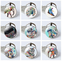 Silicone painting gems - Good A Painted animal crystal key ring new time gem creative gift KR387 Keychains mix order pieces a