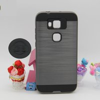 zte grand cases al por mayor-Cubierta híbrida de Daul Layer Brushed Armor para ZTE BLADE V6 PLUS L3 L5 A310 A315 A510 A610 N9131 GRAND X3 X4 100PCS / LOT YY