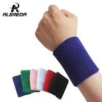 Wholesale Sweat Wrist Bands Wholesales - Wholesale- new sport cotton elastic bandage hand gym support wrist brace wrap fitness tennis polsini sweat band munhequeira