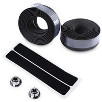 Wholesale Tape For Carbon - Portable Handlebar Tape Lightweight Carbon Fiber Belt Strap Handlebar Tape with Bar Plug for Bicycle Cycling Handbar+B