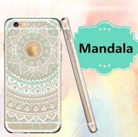 xiaomi tpu davası toptan satış-TPU Mandala Çiçek Çizim Desen Temizle Telefon Kılıfı Kapak Için iPhone X 8 7 Artı Samsung Note9 J6 J4 A7 A8 A5 2018 SONY OPPO Xiaomi Opp Çanta