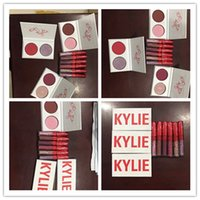 en stock Kylie New Kyshadow Valentines Collection Dos colores Kyshadow Palette Kylie Jenner Valentines Gift principal apretón y cosa dulce