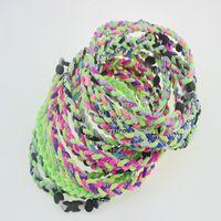 "Wholesale Size Titanium Baseball Necklaces - 2017 new arrival germanium baseball necklace ropes tornado braided teams titanium necklace baseball football many colors size 18"" 20"" 22"""