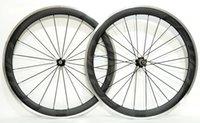 ems alaşımı toptan satış-EMS tarafından ücretsiz nakliye alaşım fren yüzeyi karbon jantlar 700C 50mm derinlik 23mm genişlik yol bisikleti tekerlek ile Novatec 271/372