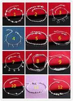 Wholesale Sterling Silver Bangles Valentine - 925 Sterling Silver Jewelry Bracelet Valentines Day Gift Women Love Heart with Heart Adjustable Bracelets & Bangles