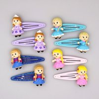 Wholesale Mixed Resin Clips - 2017 new princess hair ropes & hair clips for children high quality resin material cute and safe