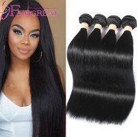 Wholesale Cheap Good Hair Extensions - Good Quality 100% Human Hair Weave Weft Unprocessed Cheap Brazilian Malaysian Peruvian Indian Straight Hair Extensions 5bundles Can Be Dyed