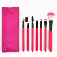 Wholesale beauty rose cosmetics resale online - 7pcs Makeup Brush Sets Professional Synthetic Hair Beauty Make Up Cosmetic Brush Tools Kits Pink Black Purple Rose Red Beige