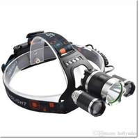 ingrosso ha portato la luce della protezione dei minatori-6000Lm 3 Cree XM-L T6 LED Torcia frontale ricaricabile Lampada frontale Testa Kit lampada con caricabatterie AC DHL libero