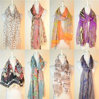 Wholesale Yellow Large Scarf - 2016 New Fashion Trendy Bohemian Women's Long Print Scarf Wrap Ladies Shawl Girl Large Pretty Scarf 19 Styles Ladies Shawl Girls Large Silk