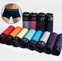 Wholesale mens solid color boxers - Vogue Men Underpants Thin Sexy Underwear Mens Boxers Casual Shorts Solid Color Polyester Mens Breathable Underwears Cheap D559