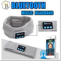 Wholesale Headband Handband - bluetooth Earphone For Iphone 7 Handband Edge Yoga Hat Sport Cap Headset Wireless Hand Band Earplug Music Player Handphone Handfree Beanie