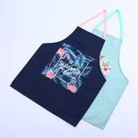 Wholesale sales apron resale online - Fashion Flamingo Apron Kitchen Restaurant Cooking Waist Antifouling Sleeveless Multi Function Tie Type Aprons Hot Sale rk J